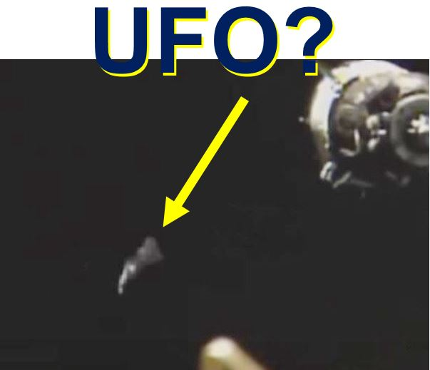 Bizarre UFO encircling ISS