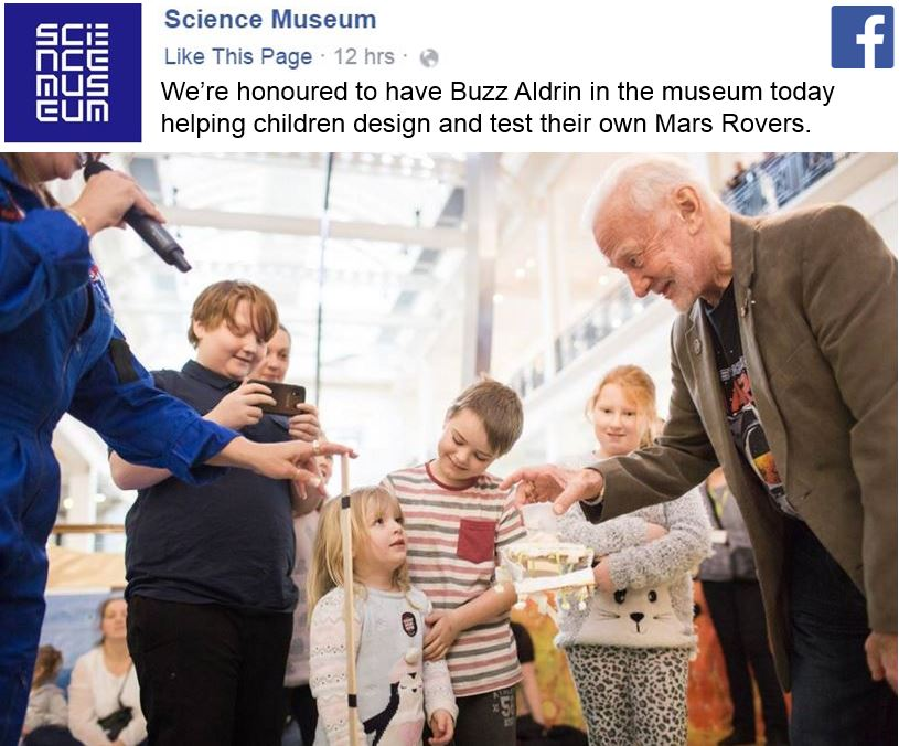 Buzz Aldrin at Science Museum of London