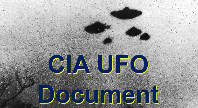 CIA UFO Declassified Documents