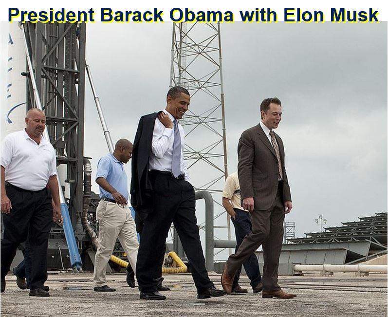 Elon Musk and Barack Obama