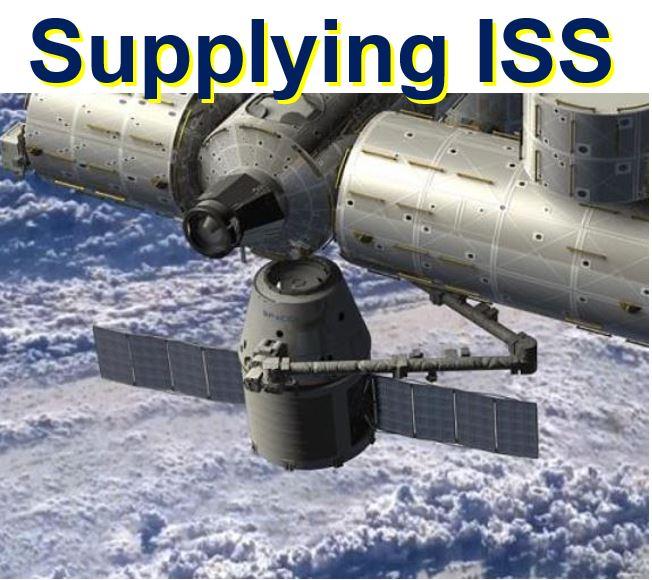Falcon 9 supplying ISS