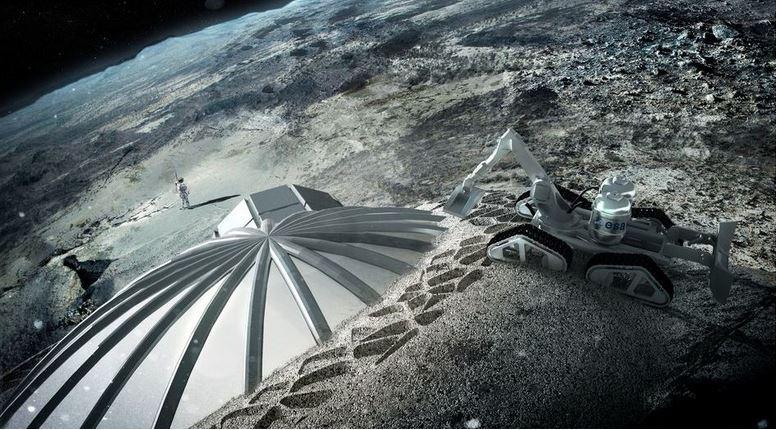 Moon base using 3D printing