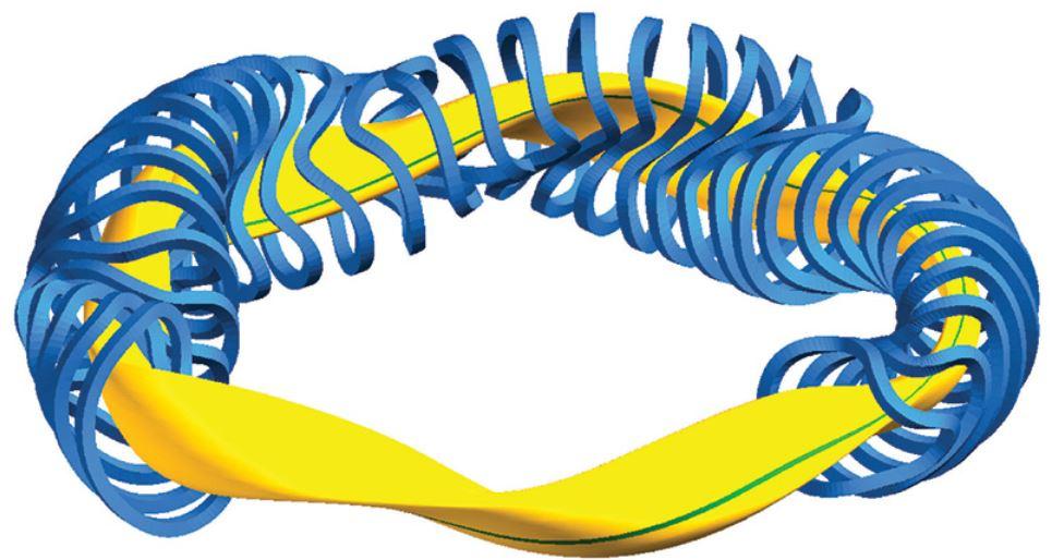 Nuclear Fusion stellarator coil
