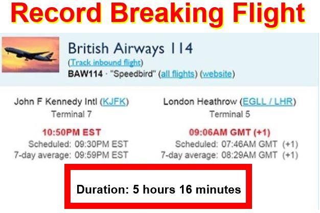 Record breaking flight