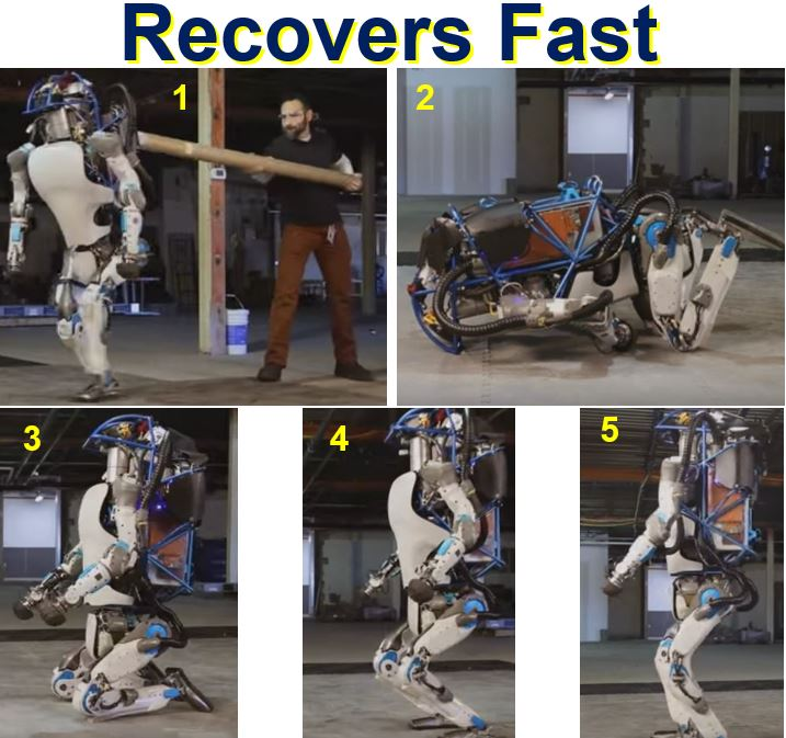 Robot recovers fast