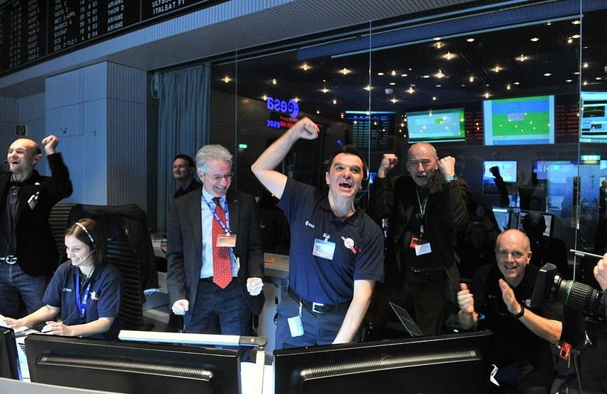 Rosetta signal ground staff overjoyed