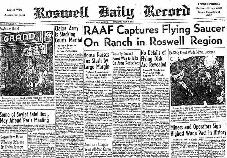 Roswell UFO alien conspiracy