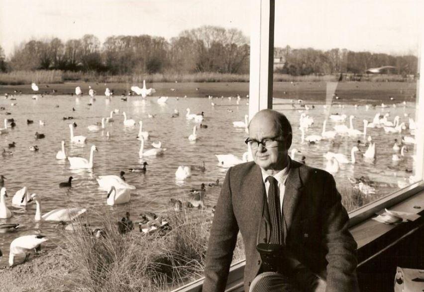 Sir Peter Scott at Slimbridge