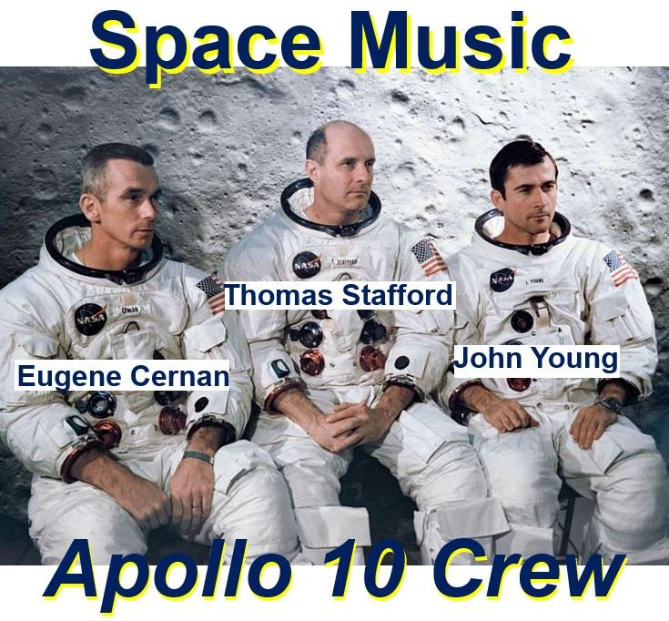 Space music heard by Apollo 10 crew members