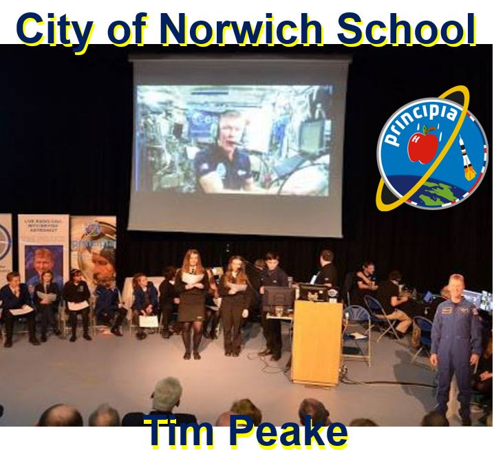 Tim Peake and City of Norwich School