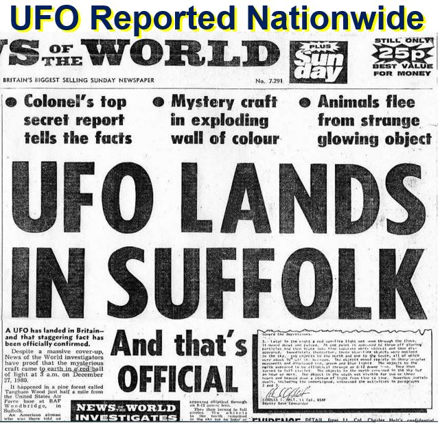UFO reported nationwide