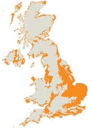 UK sea level rise
