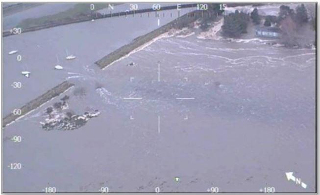 Welsh village Fairbourne flooded