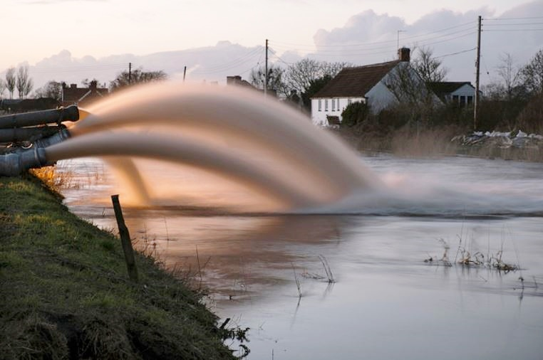 Winter floods in southern England