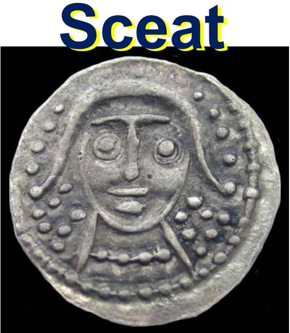 A sceat unearthed at archaeological site