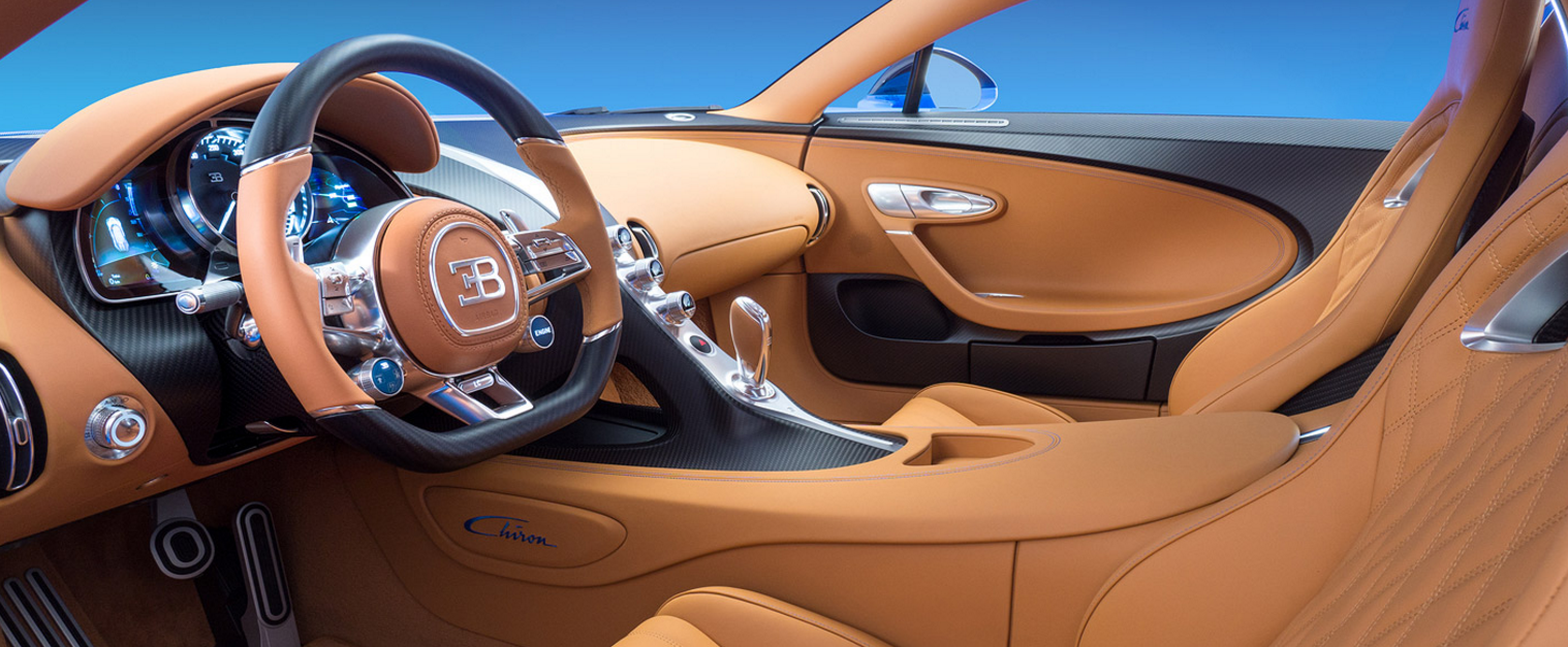 Interior of the Bugatti Chiron