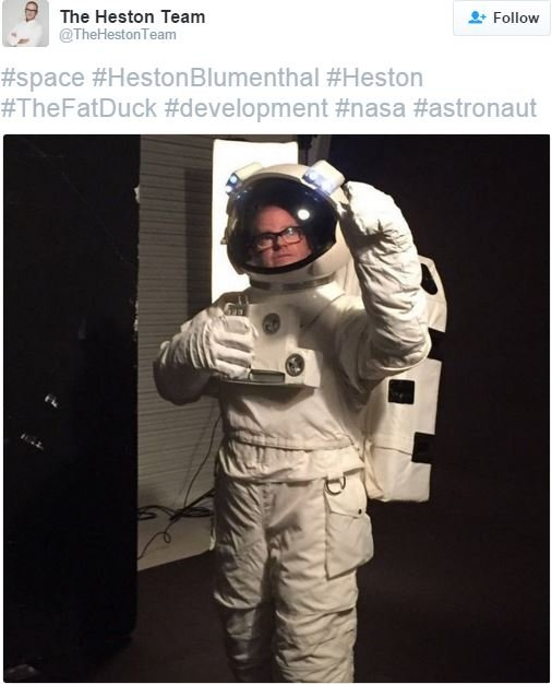 Heston Dinners in Space