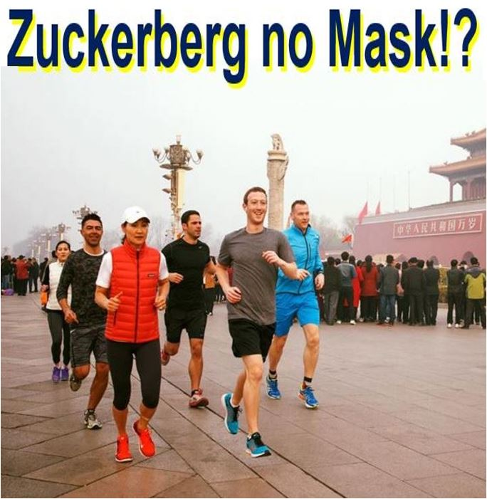 Mark Zuckerberg went jogging in smoggy Beijing