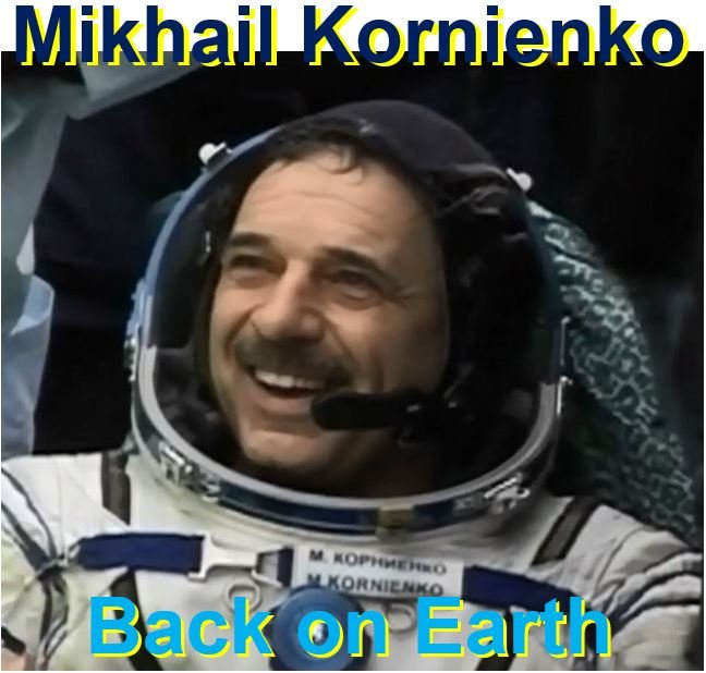 Mikhail Kornienko back on Earth