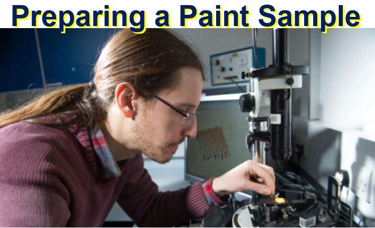 Preparing a paint sample