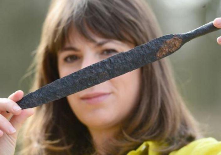 Spear head found at excavation site