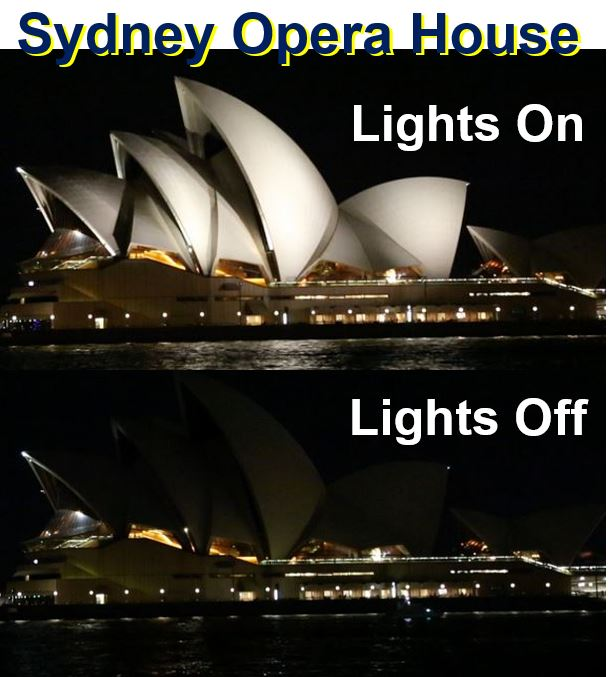 Sydney Opera House Earth Hour