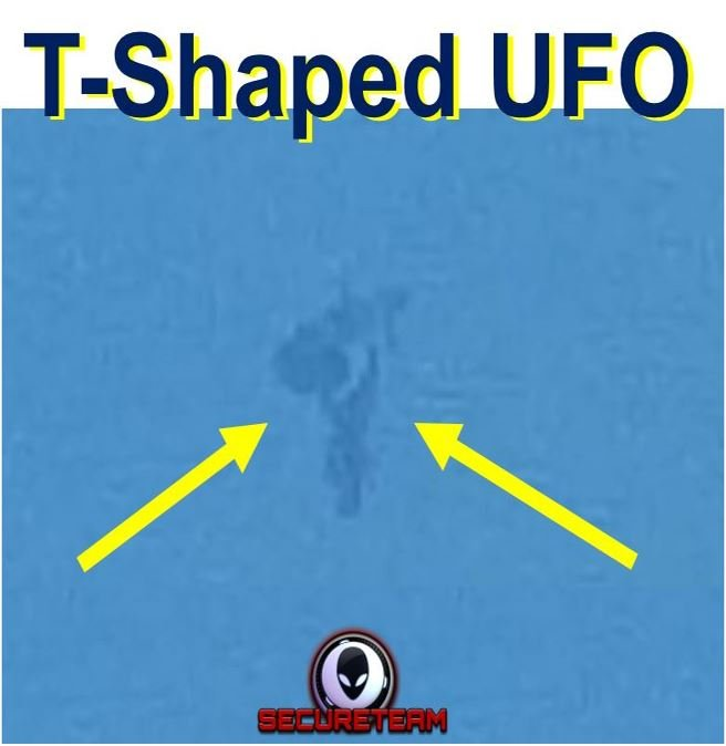 T shaped shape shifting UFO filmed