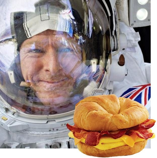 Tim Peake and bacon sarnie