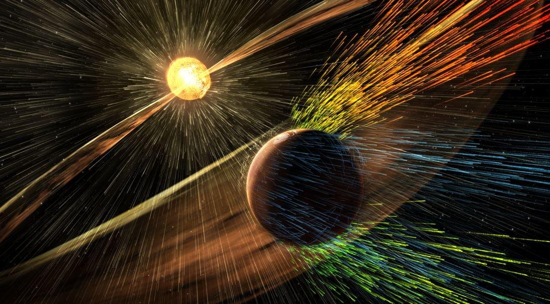 solar wind Mars atmosphere