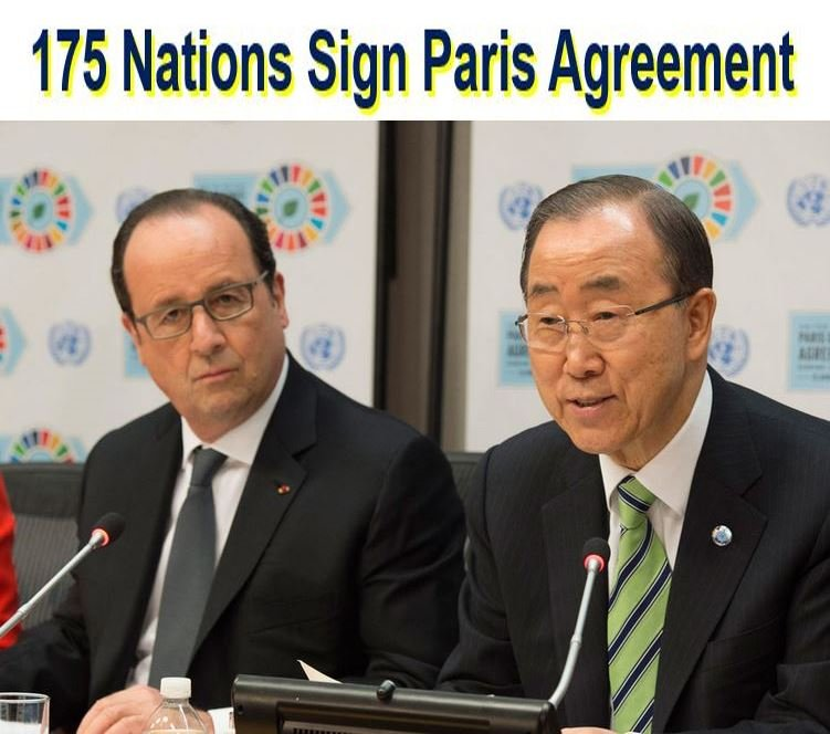 World Leaders Sign Paris Agreement To Bat Climate