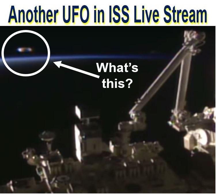 Another UFO filmed from ISS