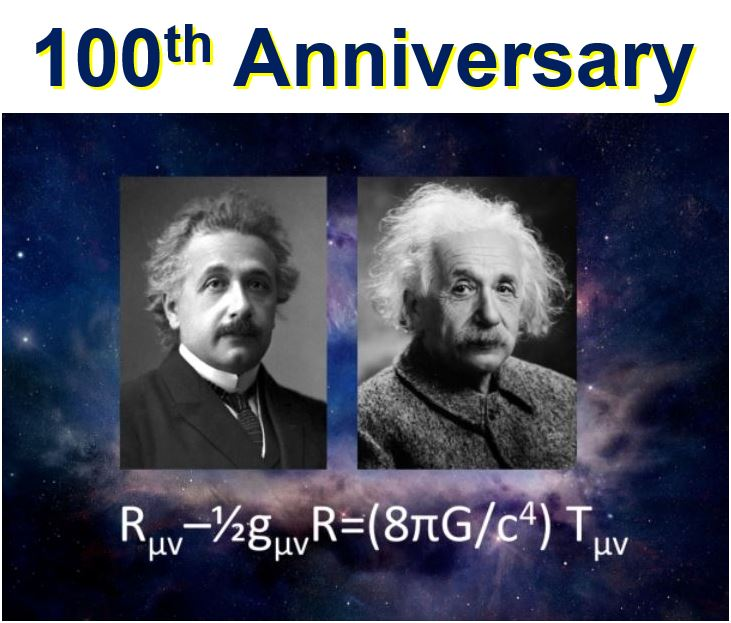 Einstein Theory of Relativity 100 anniversary