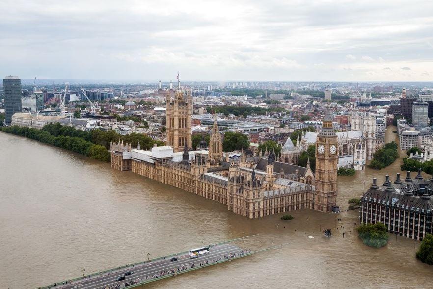 London 20 foot sea level rise