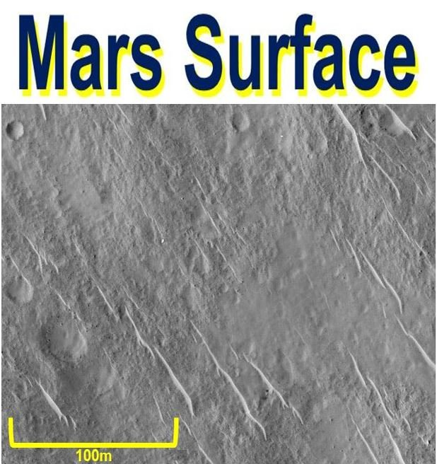 Mars surface using stacking and matching
