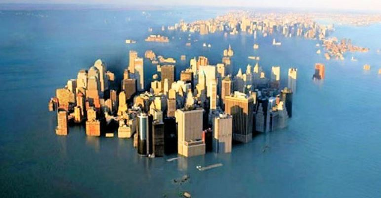 New York City 20 foot sea level rise