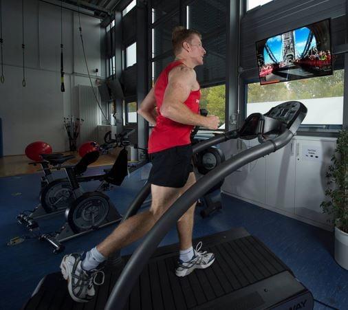 Tim Peake running on treadmill