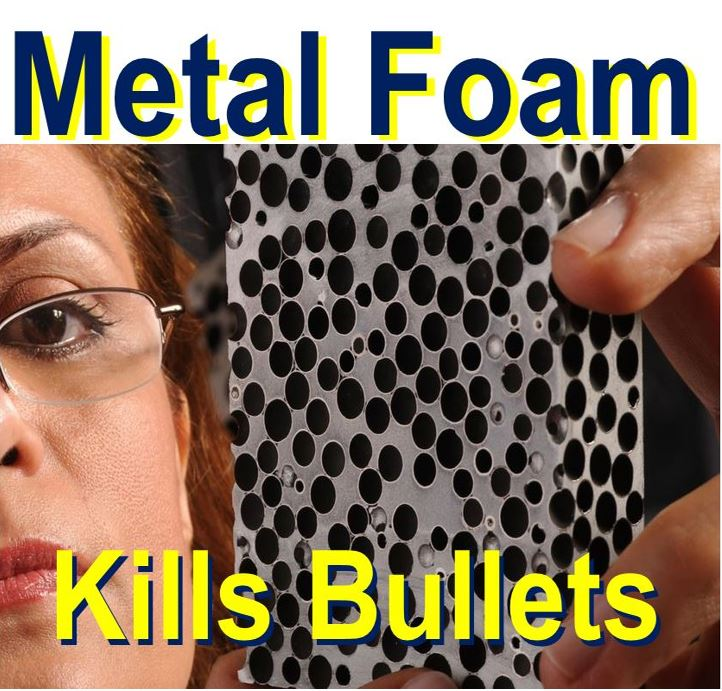 metal foam stops bullets