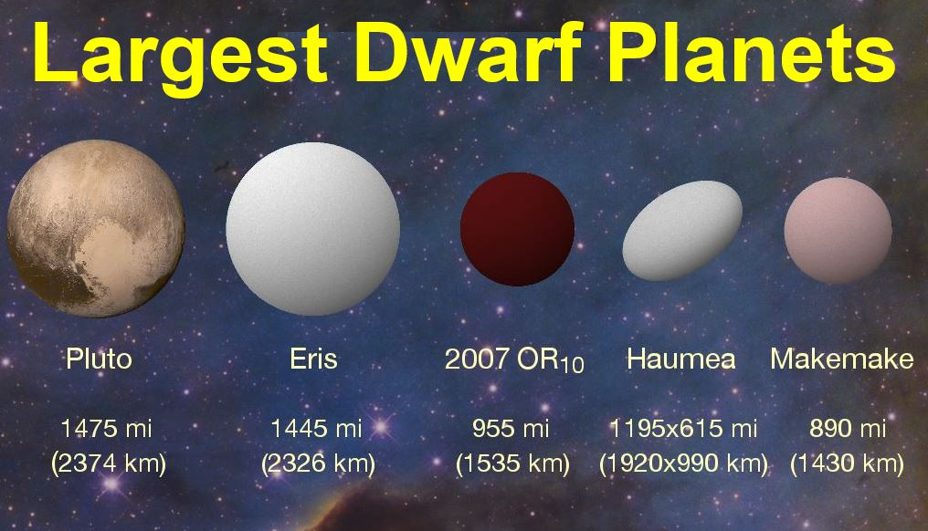 2007 OR10 and the largest dwarf planet