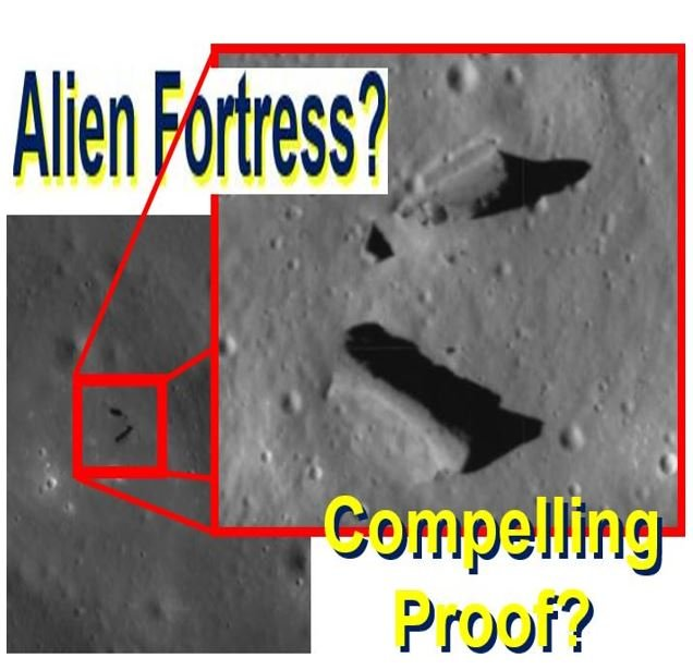 An alien fortress or just Moon rock