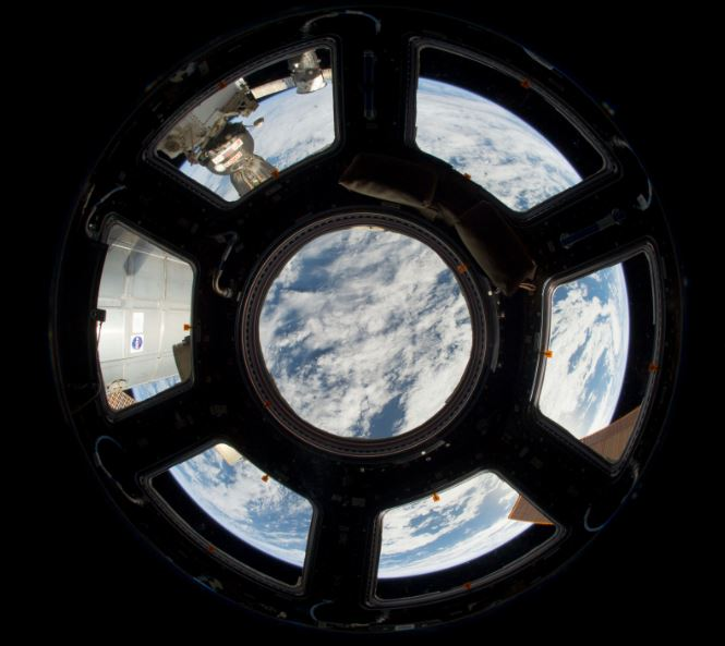 Cupola window on ISS