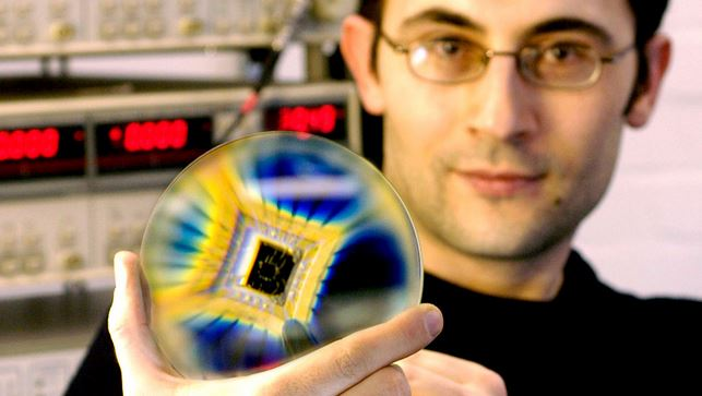 Graphene quantum dots on a chip