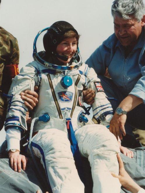Helen Sharman safely back on Earth