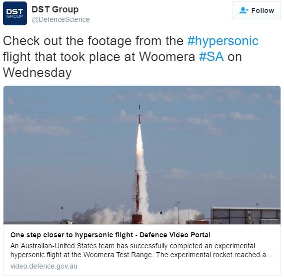 Hypersonic flight one step closer
