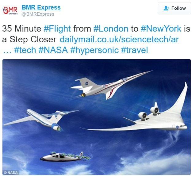 Hypersonic test flight comment Twitter