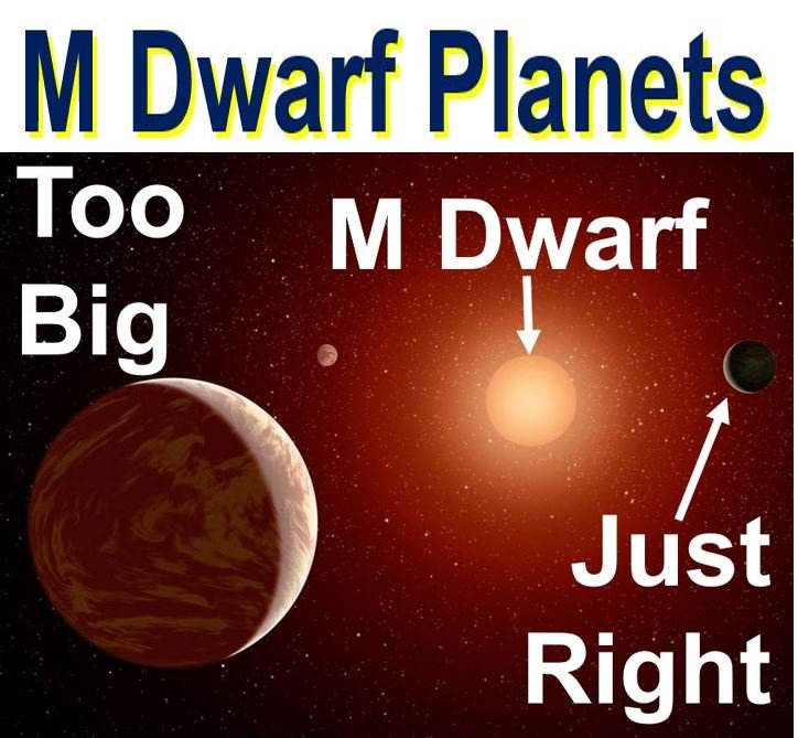 Life on other planets orbiting M dwarfs