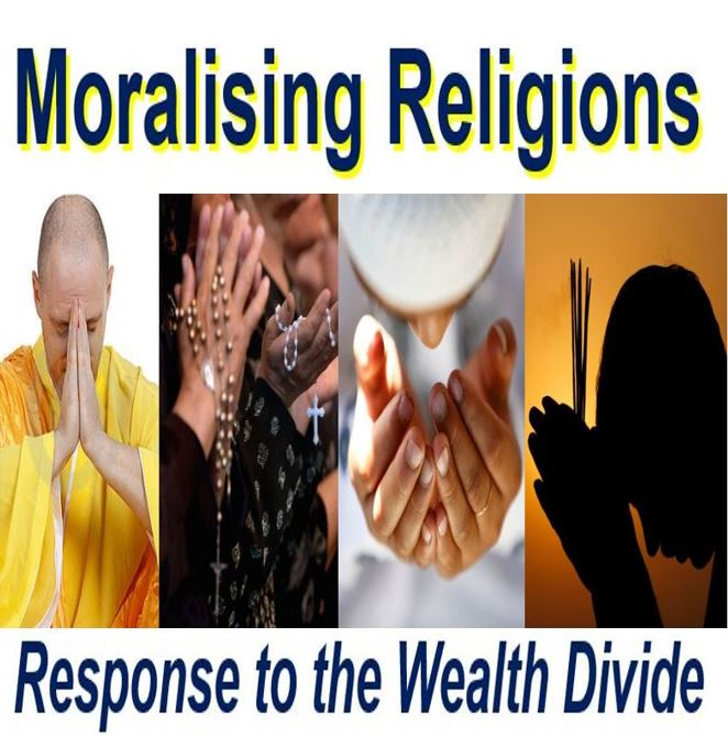 Moralising religions will vanish with growing wealth