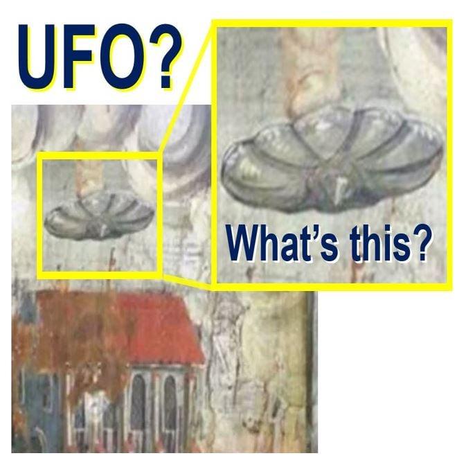UFO in 17th century church wall Romania