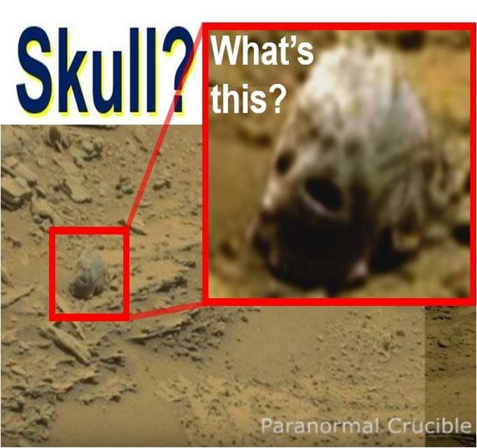 Alleged alien skull on Mars