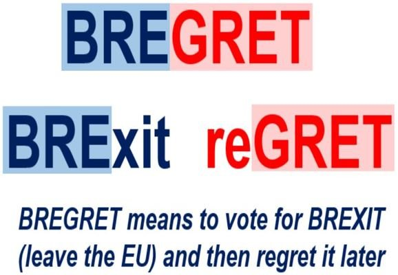 BREGRET comes from Brexit and Regret