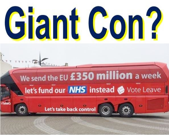 Giant con EU money for NHS